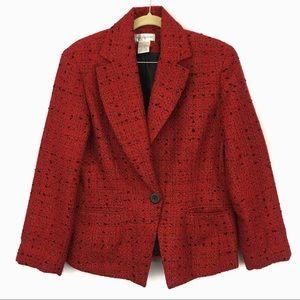 Worthington red and black blazer jacket size 12